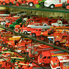 Collection of fire trucks at small scales.