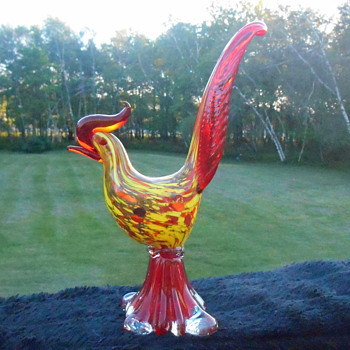 Murano End of Day Rooster