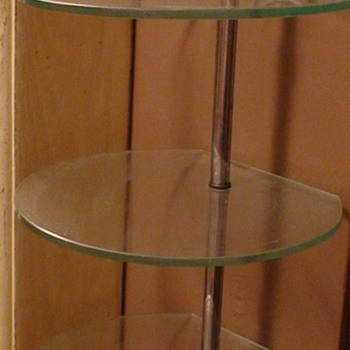 Art Deco Chrome and Glass Shelves Vintage
