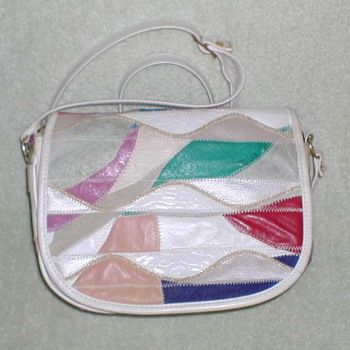 Ladies Leather Patchwork Handbag
