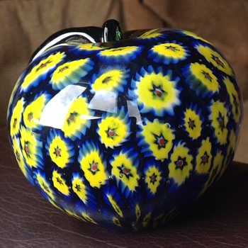 Murano? Glass apple paper weight