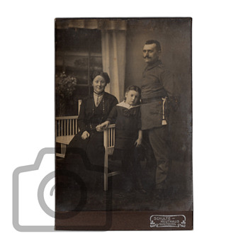 Old photographs collection: family portraits with Art Nouveau furniture
