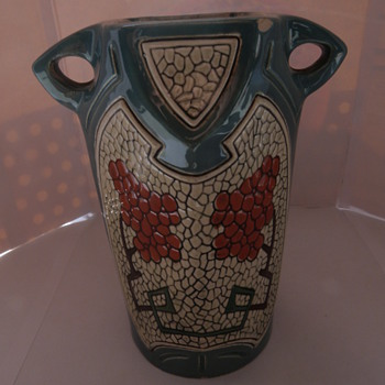 A charming turn of the century Austrian vase, with Seccessionist influence