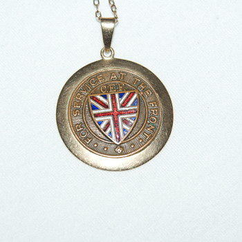 WW1 Medallion for Service at the Front