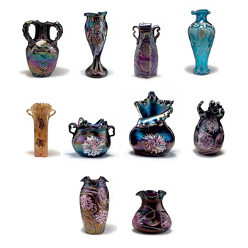 Quittenbaum, Pallme König, and Kralik – A Visual Comparison of Décor Examples for Collectors - Art Glass
