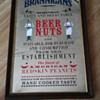 Old Brannigans Beer Nuts Pub Glass advertising Mirror