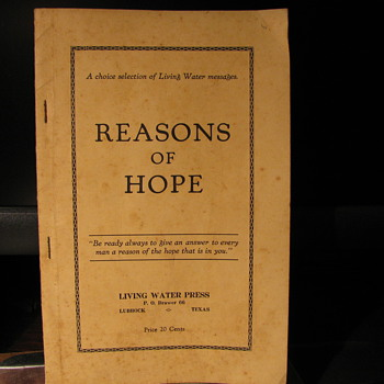 Reasons of Hope 1929