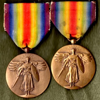 WWI Victory Medal Short Drape Mystery - Military and Wartime