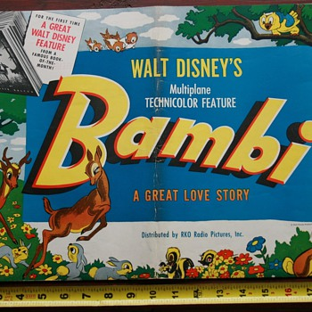 "1942 ""Bambi"" movie pressbook - Movies"