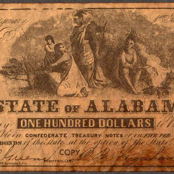 Confederate Currency - Novelty Note (Alabama)