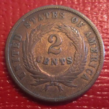 Civil War Copper 2 Cent Piece. - US Coins