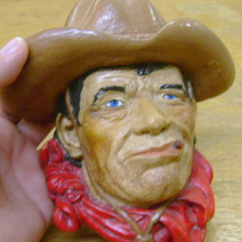 Chalk ware Cowboy - Figurines