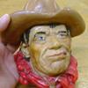 Chalk ware Cowboy