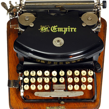 Empire 1 typewriter - 1892
