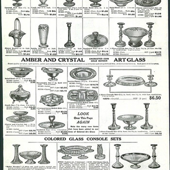 Butler Brothers 1927 American Glass Catalogue Page - Advertising