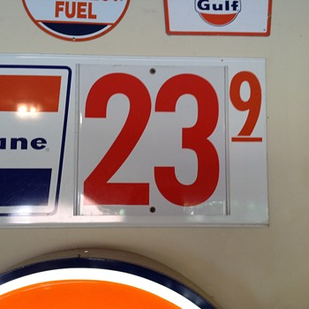 Gulf signs.....  Fill 'er up, sir at 23.9 a gallon. And could you get the windows too?