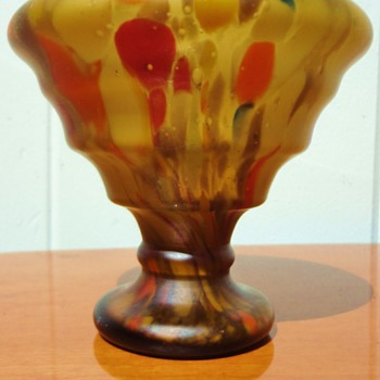 Czech Deco Spatter Vase - Art Deco