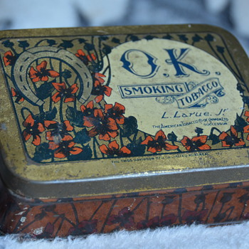 Old O.K. Tobacco Tin From Montreal