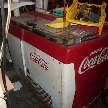 Old Coke Cooler - Coca-Cola