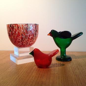 OIVA TOIKKA TUNDRA & SIEPOT - Art Glass
