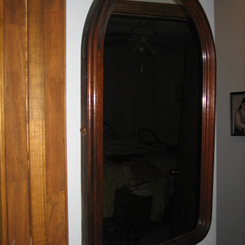 Mahogany framed mirror.