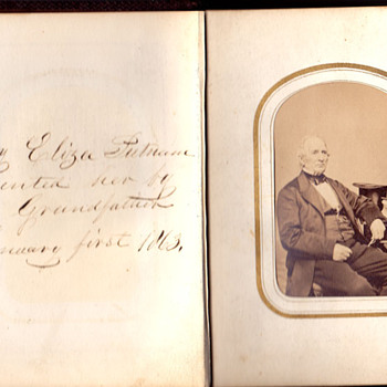 Album  from 1863 , First page - Photographs