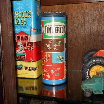 Semi-Vintage Tinker Toys Box  - Toys