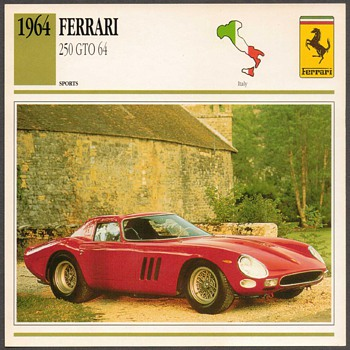 Vintage Car Card - Ferrari 250 GTO