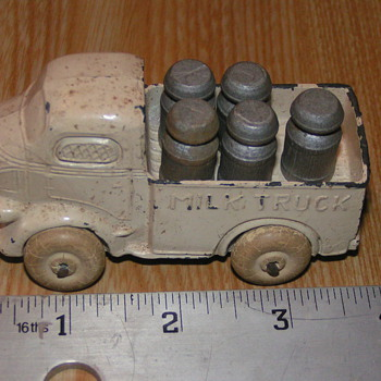 Cast Iron Milk Truck