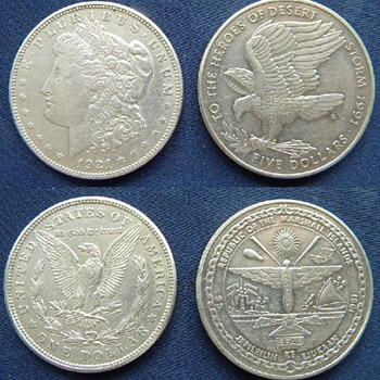 Desert Storm silver coin / Liberty head - World Coins