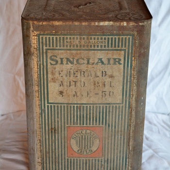 Sinclair Opaline 5 Gallon Can - Petroliana
