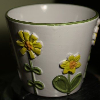 Faience Flower Pot - Italy? Germany? by? - Art Pottery