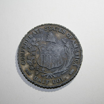 1861 Confederate Half Dollar Coin