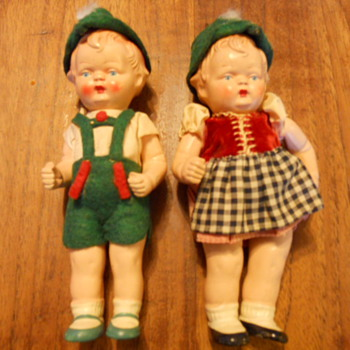German boy & girl dolls - Dolls