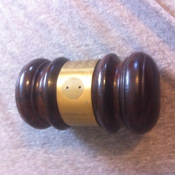 1954-1955 Judges Gavel