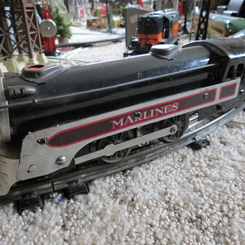 Marx 495 MARLINES Steam train. - Model Trains