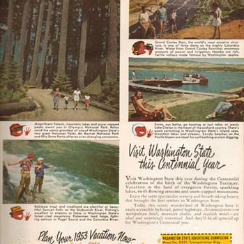 1953 - Washington State Travel Advertisement