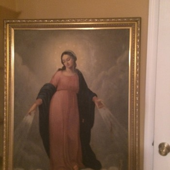 Antique Madonna oil painting - Visual Art