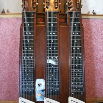 3 neck vintage steel guitar - Guitars