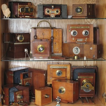 Vintage Cameras on Display - Cameras
