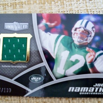 2010 Topps Unrivaled Joe Namath Patch Card - Football