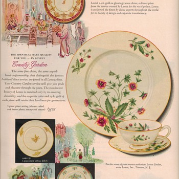 1950 Lenox China Advertisement - Advertising