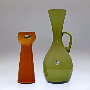 Ekenäs Glassworks, Sweden - Two vases 1960s