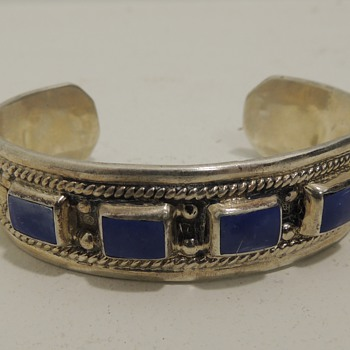 Signed Sterling & ? LATON Cuff - TAXCO TF-40
