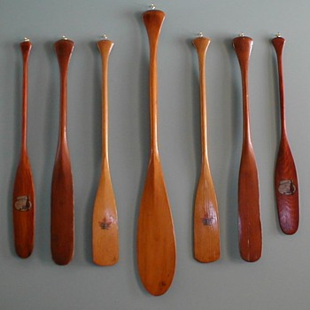 Some salesman's sample and other native-made miniature paddles