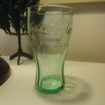COCA COLA GLASS- GREEN