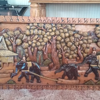 Antique wall panel
