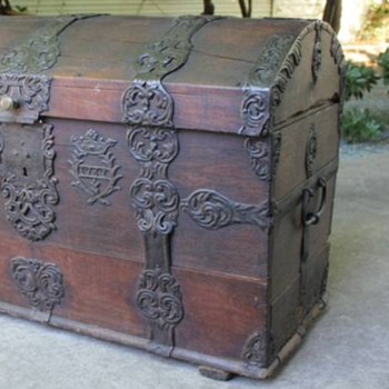 Part Two-Circa 1762 Sea Chest/Captains/Officers Sea Chest/Pirate Chest-Provenance and Owners Names - Furniture