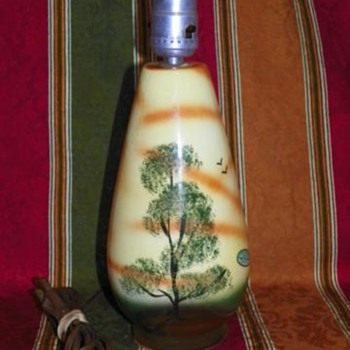 Hand Painted Sand Filled Portable Lamp