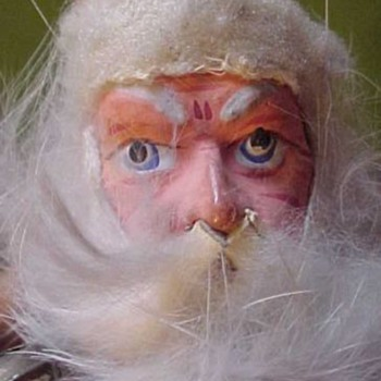 Santa Claus 19th Century Paper Mache Photographers Fascinator - Christmas